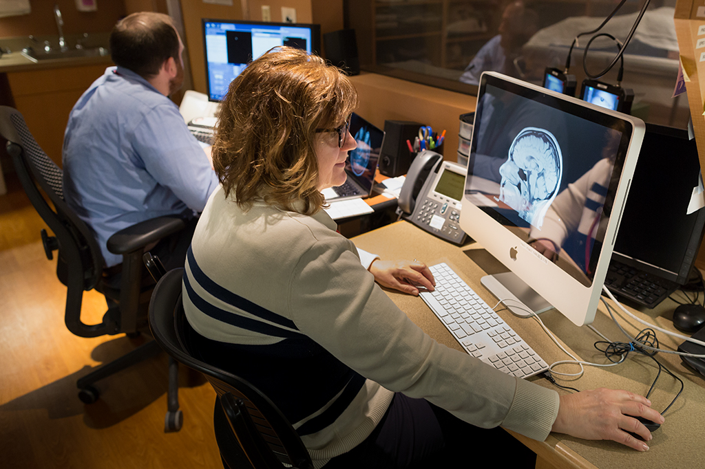 mri images and workers
